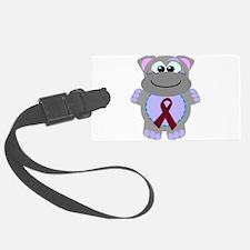 burg ribbon hippo.png Luggage Tag