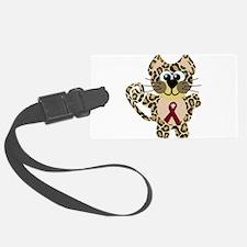 burg ribbon leopard.png Luggage Tag