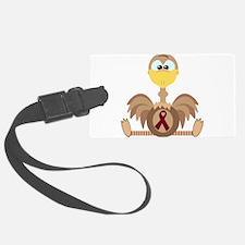burg ribbon ostrich copy.png Luggage Tag