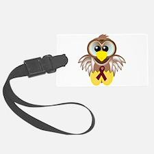 burg ribbon owl.png Luggage Tag