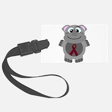 burg ribbon rhino.png Luggage Tag