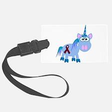 burg ribbon unicorn.png Luggage Tag