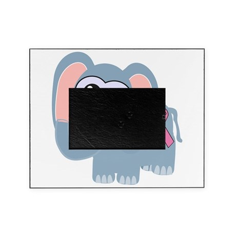 pink ribbon elephant .png Picture Frame