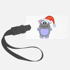hippo santa.png Luggage Tag