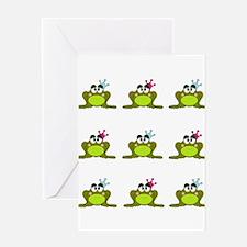 Frog Prince and Princess Greeting Card