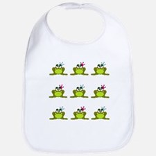 Frog Prince and Princess Bib