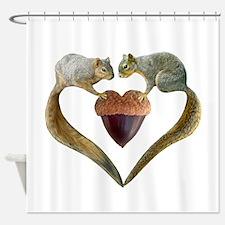 Love Squirrels Shower Curtain