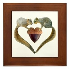 Love Squirrels Framed Tile