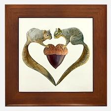 Love Squirrels Framed Tile