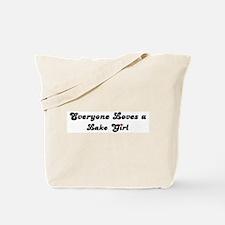 Lake girl Tote Bag