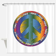Big Peace Symbol Shower Curtain