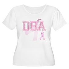 DBA initials, Pink Ribbon, T-Shirt