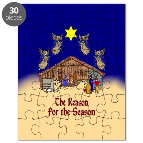 Square or Round Reason for the Season Puzzle