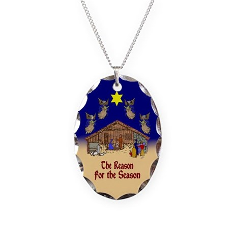 Square or Round Reason for the Season Necklace Ova