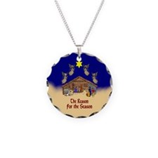 Square or Round Reason for the Season Necklace Cir