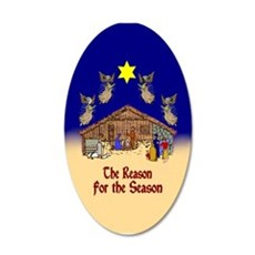 Square or Round Reason for the Season Wall Decal