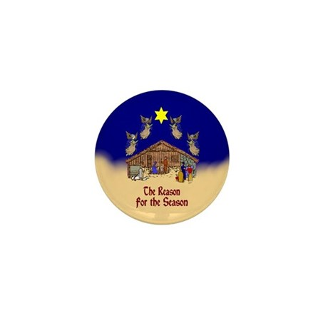 Square or Round Reason for the Season Mini Button