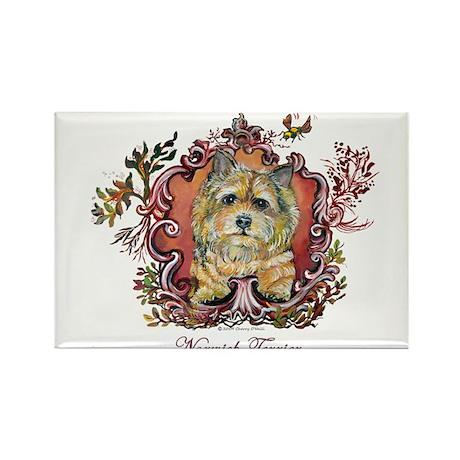 Norwich Terrier Vintage Rectangle Magnet (10 pack)