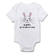 No Mommy! Not the Bunny Suit Again! Baby Onesie