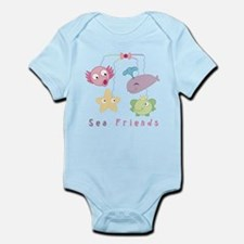 Sea Friends Mobile Onesie for Baby Girls