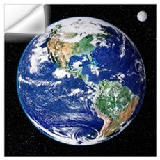 Earth from space, satellite image Wall Decal