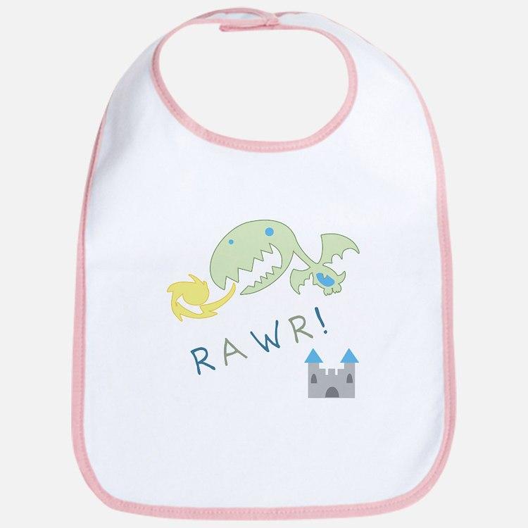 Rawr! Dragon Baby Bib