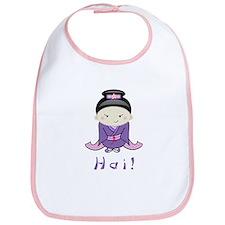 'Hai!' Kimono Girl Baby Bib