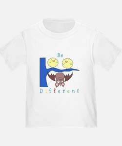 'Be Different' Bat and Birds T