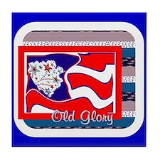 Old Glory Tile Coaster