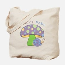 Groovy Baby Mushroom/Snail 2-Sided Tote Bag