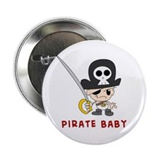 Pirate Baby Large Pinback Button