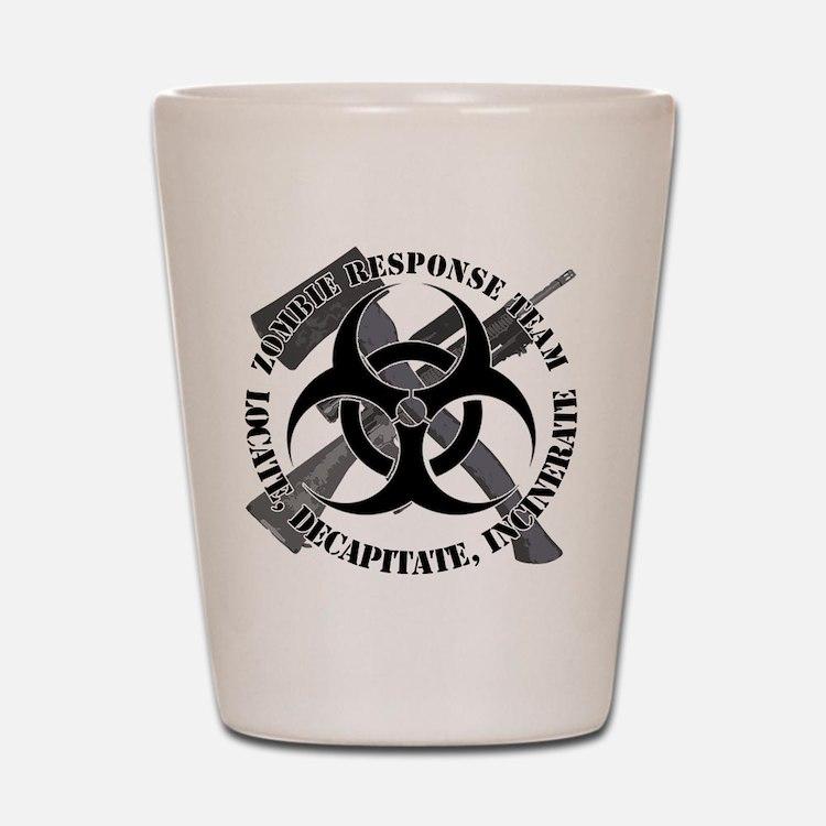 Zombie Response Team White Border Shot Glass