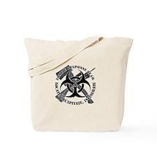 Zombie Response Team White Border Tote Bag