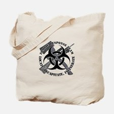 Zombie Response Team White Border Tote Bag