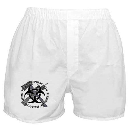 Zombie Response Team White Border Boxer Shorts