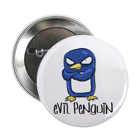 Evil Penguin Pinback Button