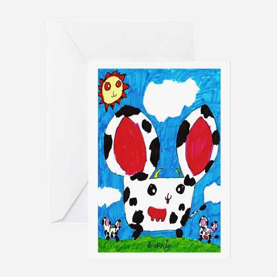 Cow Hamsters Greeting Card
