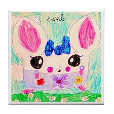 Little Cream Puff Hamster Tile Coaster