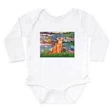 Cute Abyssinian Long Sleeve Infant Bodysuit