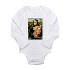 Mona's Red Abyssinian Long Sleeve Infant Bodysuit