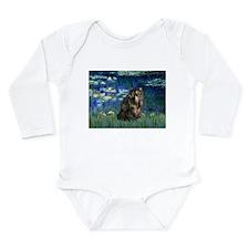 Lilies #5 / Long Sleeve Infant Bodysuit