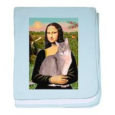 Mona & her Blue Abbyssinian baby blanket
