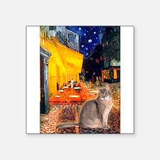 "Cafe & Blue Abbysinian Square Sticker 3"" x 3"""