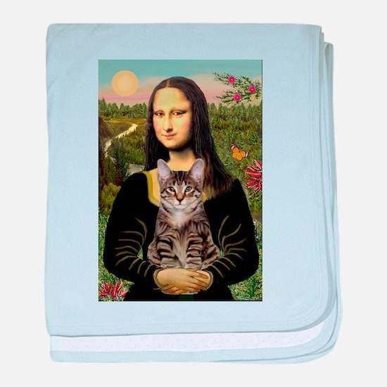 5x7b-Mona-Cat-tiger1.PNG baby blanket