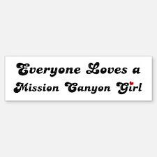 Mission Canyon girl Bumper Bumper Bumper Sticker