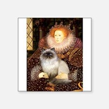 """5.5x7.5-QUEEN-Himalayan.png Square Sticker 3"""" x 3"""""""