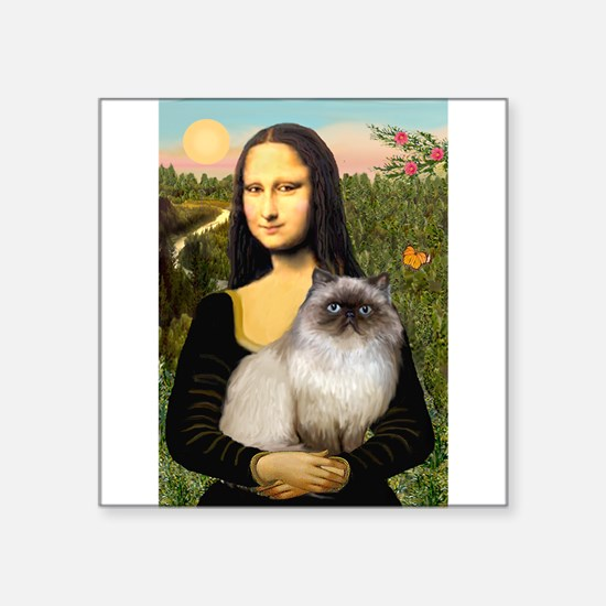 "Mona's Himalayan Cat Square Sticker 3"" x 3"""