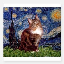"""5.5x7.5-Starry-MCoon12B.PNG Square Car Magnet 3"""" x"""