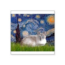 Starry / Lilac Pt. Siamese Square Sticker 3""