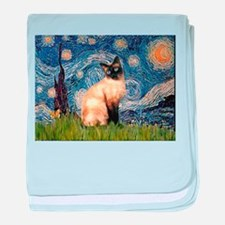 TILE-Starry-Siamese1.png baby blanket
